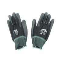 Găng tay bảo hộ MVW màu đen phủ PU lòng bàn tay MVW-BPPC-300M (SP78-ND9.2) size M