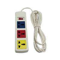 Ổ cắm điện đa năng 3 ổ cắm 1 công tắc dây 3m trắng 2200W - 3300W LiOA 3D32WN