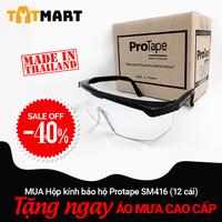 Hộp 12 cái kính bảo hộ ProTape SM416 kiểu tiêu chuẩn, trong suốt