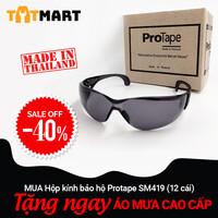 Hộp 12 cái kính bảo hộ ProTape SM419 kiểu thể thao, màu đen