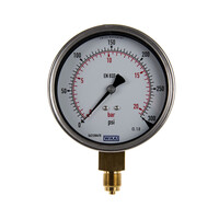 RS PRO Analogue Positive Pressure Gauge Bottom Entry 300psi, Connection Size G 3/8 (189030)