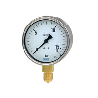 RS PRO Analogue Positive Pressure Gauge Bottom Entry 100psi, Connection Size G 3/8 (189018)