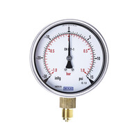 RS PRO Analogue Positive Pressure Gauge Bottom Entry 1bar, Connection Size G 3/8 (188992)