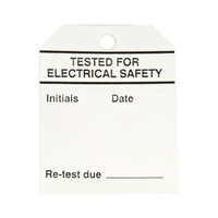 RS PRO Pre-Printed Tie Label-Tested For Electrical Safety-. Quantity: 50 (4453672)