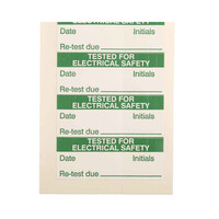 RS PRO Adhesive Pre-Printed Adhesive Label-Tested For Electrical Safety-. Quantity: 140 (4506164)
