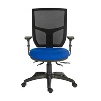 RS PRO Fabric Typist Chair 150kg Weight Capacity Blue (1970400)