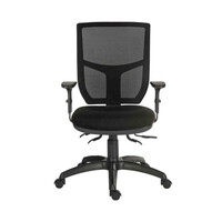 RS PRO Fabric Typist Chair 150kg Weight Capacity Black (1970401)