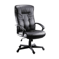 RS PRO Leather Faced Executive Chair Black (1809719)