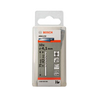 Hộp 10 mũi khoan Inox HSS-Co 4.1mm BOSCH 2608585881