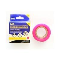 Băng keo nhựa 25mmx2mx0.50mmx100R 555 màu hồng 040011-555-0007