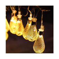 Dây đèn LED trang trí dài 5m, 20 bóng hình đèn lồng có remote điều khiển từ xa dùng pin