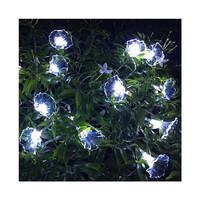 Dây đèn LED trang trí dài 5m, 20 bóng hình hoa trắng dùng pin