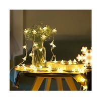 Dây đèn LED trang trí dài 5m, 20 bóng hình hoa anh đào dùng pin