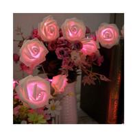 Dây đèn LED trang trí dài 5m, 20 bóng hình hoa hồng có đổi màu dùng pin