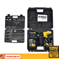 Máy khoan vặn vít pin 18V/1.3Ah kèm phụ kiện Dewalt DCD771C2A-B1