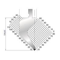 Dao chấn kích thước 104,65x415 Eurostamp JES117300415