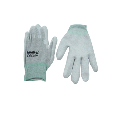Găng tay bảo hộ sợi carbon MVW phủ PU lòng bàn tay MVW-CAPC-300M size M