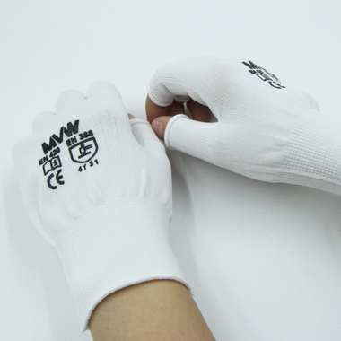 Găng tay bảo hộ MVW không phủ PU hở ngón MVW-HLF-100S (SP334-ND9.2) size S