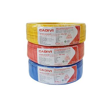 Dây điện đơn mềm 2.5 CADIVI CV 2.5
